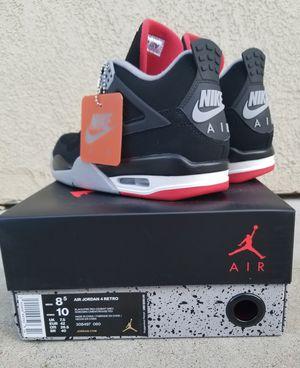 Brand New Deadstock Nike Air Jordan Retro Bred IV 4s (2019) for Sale in Antioch, CA