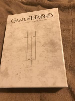 Game of Thrones The Complete Third Season DVD Used once , excellent near mint condition $5 takes it home , pickup Acton ma or ships for $3 for Sale in Westford, MA