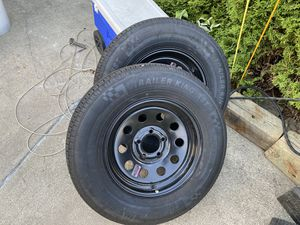 Pack Trailer Tires & Rims NEW 205/75/15 for Sale in Crestwood, IL