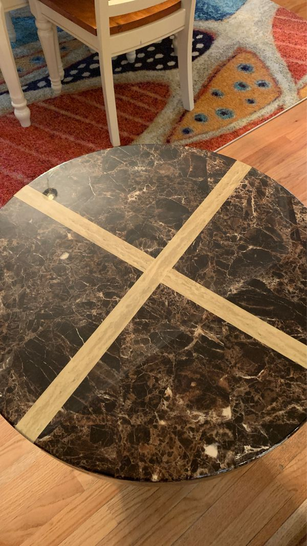Marble coffee table / end table