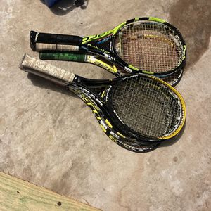 Tennis Rackets (7 Rackets Total) Babolat, Various Colors, Adult Size for Sale in Cypress, TX