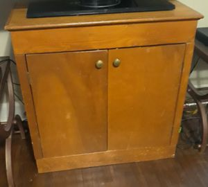 Two shelves solid wood cabinet for Sale in Little Rock, AR