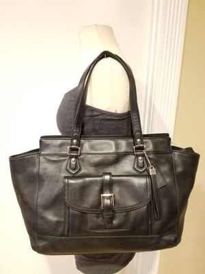 """Leather Coach Black Purse Bag 13"""" W x 11"""" H x 4"""" D. for Sale in Las Vegas, NV"""