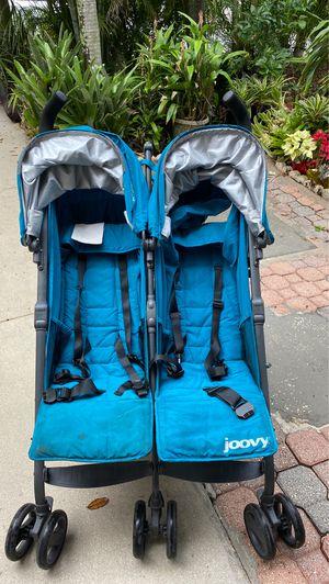 Joovy Twin Groove Ultralight Double Stroller, Turquoise for Sale in Tamarac, FL