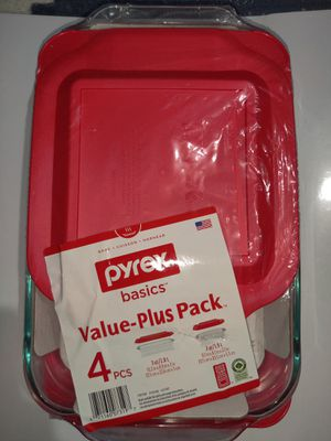 Pyrex 4pc Bakeware Value Set Red for Sale in Cornelius, OR