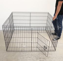 """$30 New In Box 8-Panel Dog Playpen, Each Panel 24"""" Tall X 24"""" Wide Pet Exercise Fence Crate Kennel Gate for Sale in Los Angeles,  CA"""