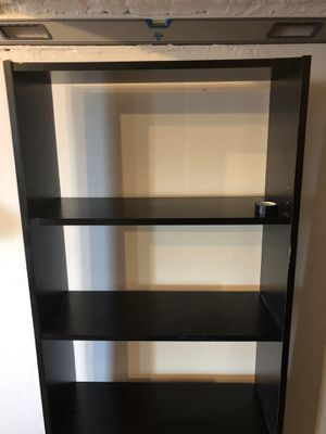 Basic black tall bookshelf for Sale in Everett, MA
