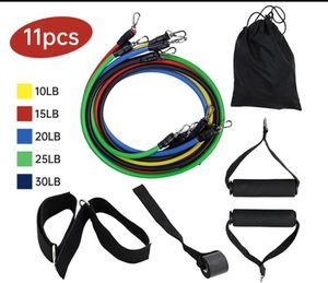 Resistance Bands Set 11pc up to 100 lbs for Sale in Miami Beach, FL