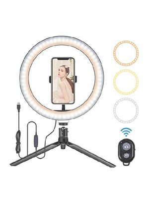 """10"""" LED Ring light with Stand and phone holder $30 for Sale in Long Beach, CA"""