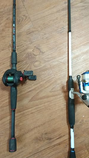 Abu Garcia and Lew's Mark rose signature series speed stick fishing reel with pole for Sale in McLoud, OK