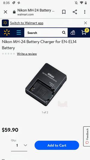 Nikon MH-24 DSLR camera battery charger for EN-EL14 batteries for Sale in San Tan Valley, AZ