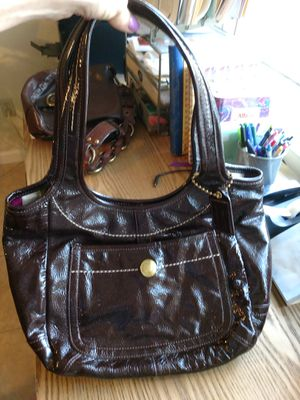 Authentic Coach Brown Ergo Patent Leather Purse for Sale in Taylor Lake Village, TX