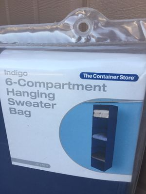 Container Store 6 Compartment Hanging Organizer for Sale in Peoria, AZ