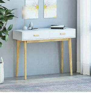 Brand new Mid century modern 2 drawer console table for Sale in San Diego, CA