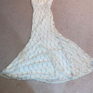 White Sequined Lace Halter Dress for Sale in Skokie, IL