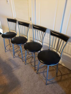 Iron swivel stools set of 4 (Reupholstered) for Sale in Fairview Heights, IL