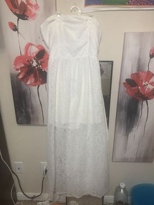 strapless floor length white dress (never worn) for Sale in Richmond, TX