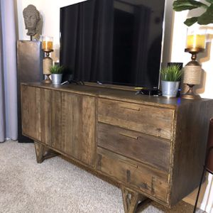 Reclaimed Wood Mid Century Modern Credenza Tv Stand for Sale in San Diego, CA