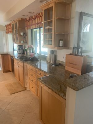 Entire Custom Kitchen with Cabinets and Granite, appliances will be sold separately for Sale in Naples, FL