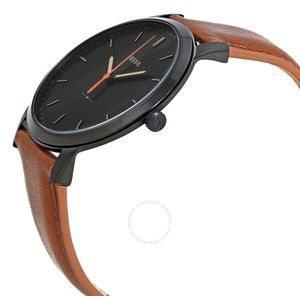 Fossil Minimalist Black Dial Brown Leather Men's Watch for Sale in Olney, MD