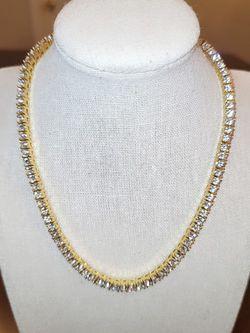 Gold 4mm CZ Tennis Necklace for Sale in Jacksonville,  FL