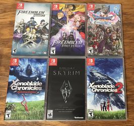 Fire Emblem Three Houses Xenoblade Chronicles 1 and 2 Skyrim Elder Scrolls Dragon's Quest 11 for Nintendo Switch System for Sale in Rocky River,  OH