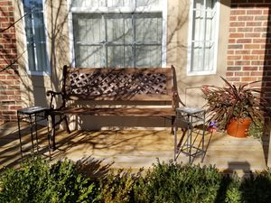 Bench with 2 plant stands for Sale in Novi, MI