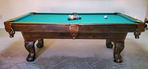 Pool Table, Bud Lite hanging light, Table Cover, Accessory Rack, 4 Pool Sticks, all accessories for Sale in Spring, TX