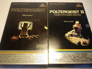 80's VHS Big Box Cover Poltergeist 1 n 2 for Sale in Garland, TX