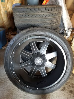 "22"" inch rims hardcore off-road with new tires for Sale in Nashville, TN"
