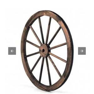 Set of 2 30-inch Decorative Vintage Wood Wagon Wheel for Sale in Brea, CA