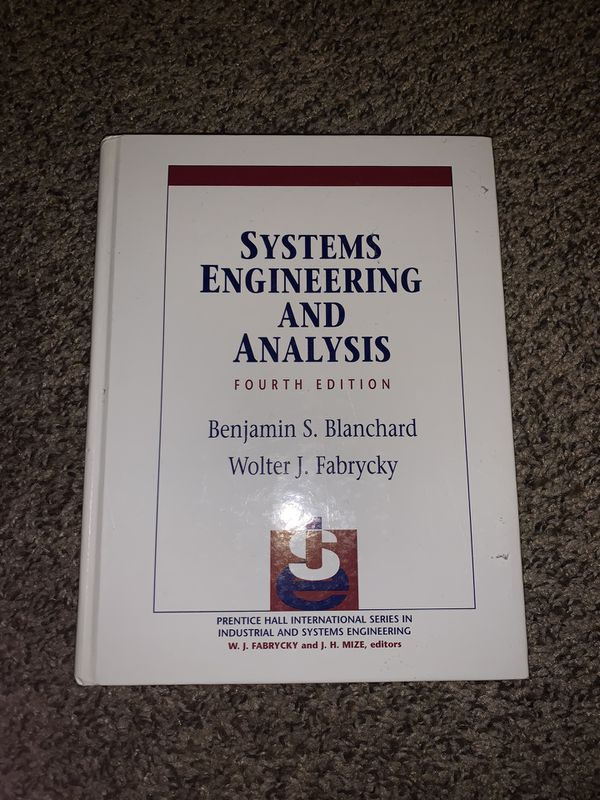 Systems engineering and analysis book 4th addition.