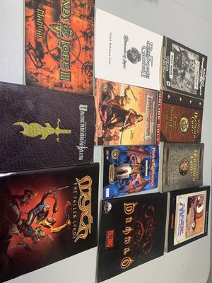 (11) Baldur's Gate & Dungeons & Dragons Manuals & Rule Books Pc Diablo Myth for Sale in Tyrone, GA