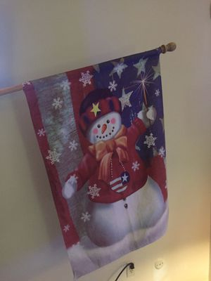 Snow man flag for Sale in Cleveland, OH