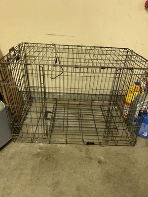 Large dog crate metal for Sale in Santa Cruz, CA