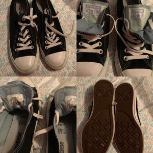 Black converse size wore once for Sale in Summersville, WV