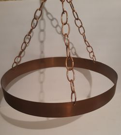 """Vintage Metal Copper Pot and Pan Rack Holder, Hanging Copper Pan Display Rack, 16"""" Wide, Kitchen Decor, Hanging Display for Sale in Lakeside,  CA"""