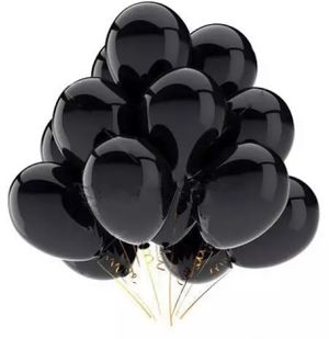 One Dozen Black Metallic balloons work helium for Sale in Baldwin Park, CA