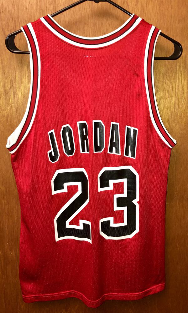check out 241a4 76dfe Vintage OG 'Champion' Michael Jordan #23 Chicago Bulls Jersey RED Size 40  (MEDIUM) for Sale in Naperville, IL - OfferUp