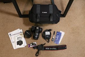 Pristine Canon EOS Rebel T5i - 2 lenses plus extras for Sale in Los Angeles, CA
