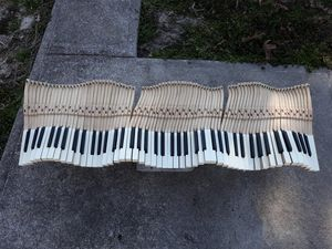 Piano key wall sculpture for Sale in Harrisburg, IL