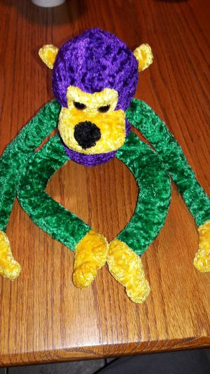 Mardi Gras Monkey Small Stuffed Animal for Sale in Orange Park, FL
