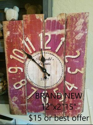 Country rustic wall clock for Sale in Surprise, AZ