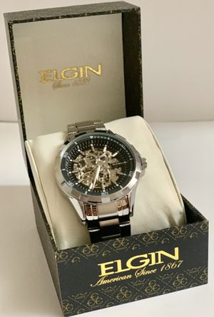 Elgin silver men's watch for Sale in Brooklyn, NY