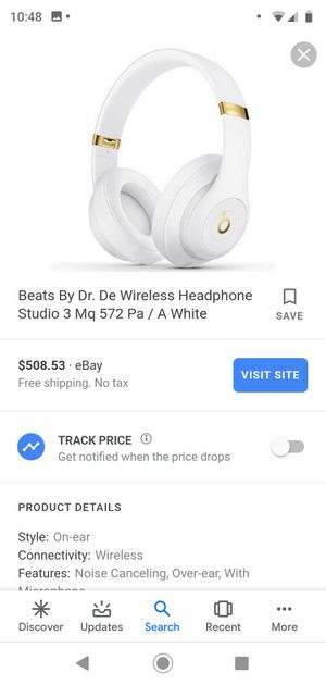 Beats studio 3 wireless over ear headphones with microphone for Sale in Portland, OR