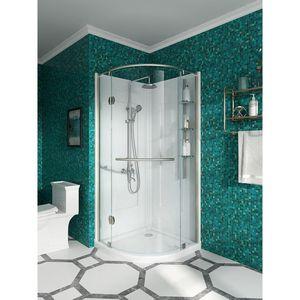 Glacier Bay Glamour 32 in. x 76.40 in. Corner Drain Corner Shower Kit in White and Satin Nickel for Sale in Dallas, TX