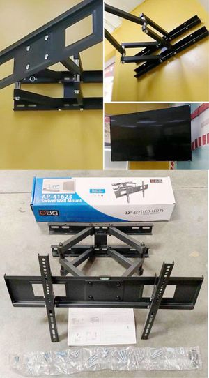 New in box universal 32 to 65 inch swivel full motion tv television wall mount bracket 120 lbs capacity includes hardware screws soporte de tv FREE H for Sale in Covina, CA