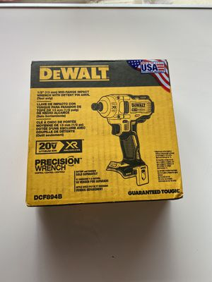 DEWALT 20-Volt MAX XR Lithium-Ion Brushless Cordless 1/2 in. Impact Wrench with Detent Pin Anvil (Tool-Only) for Sale in Atlanta, GA
