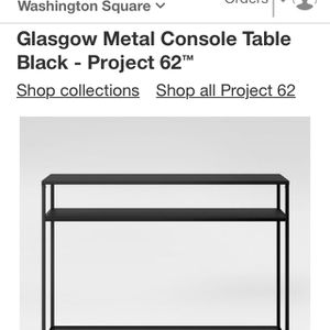 Black Metal Console Table for Sale in Beaverton, OR