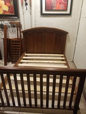 WOODEN FULL BED FRAME 3 IN ONE for Sale in Mesa, AZ